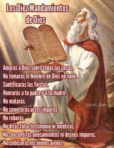 10 mandamientos de la biblia