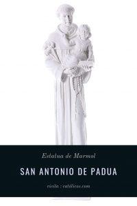 estatua de marmol de san antonio de padua