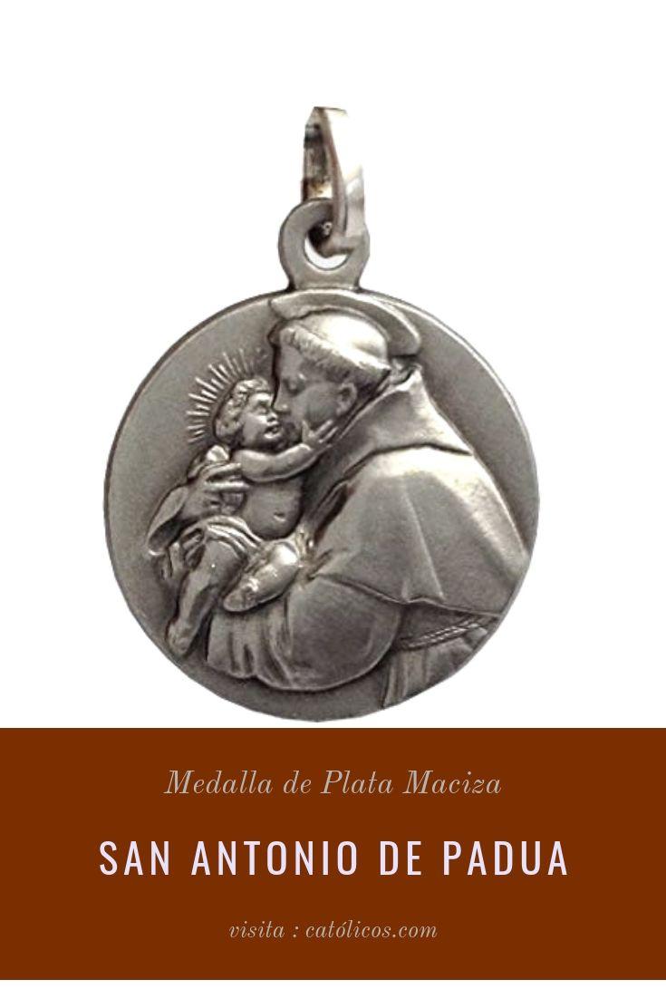 medalla plata maciza de san antonio