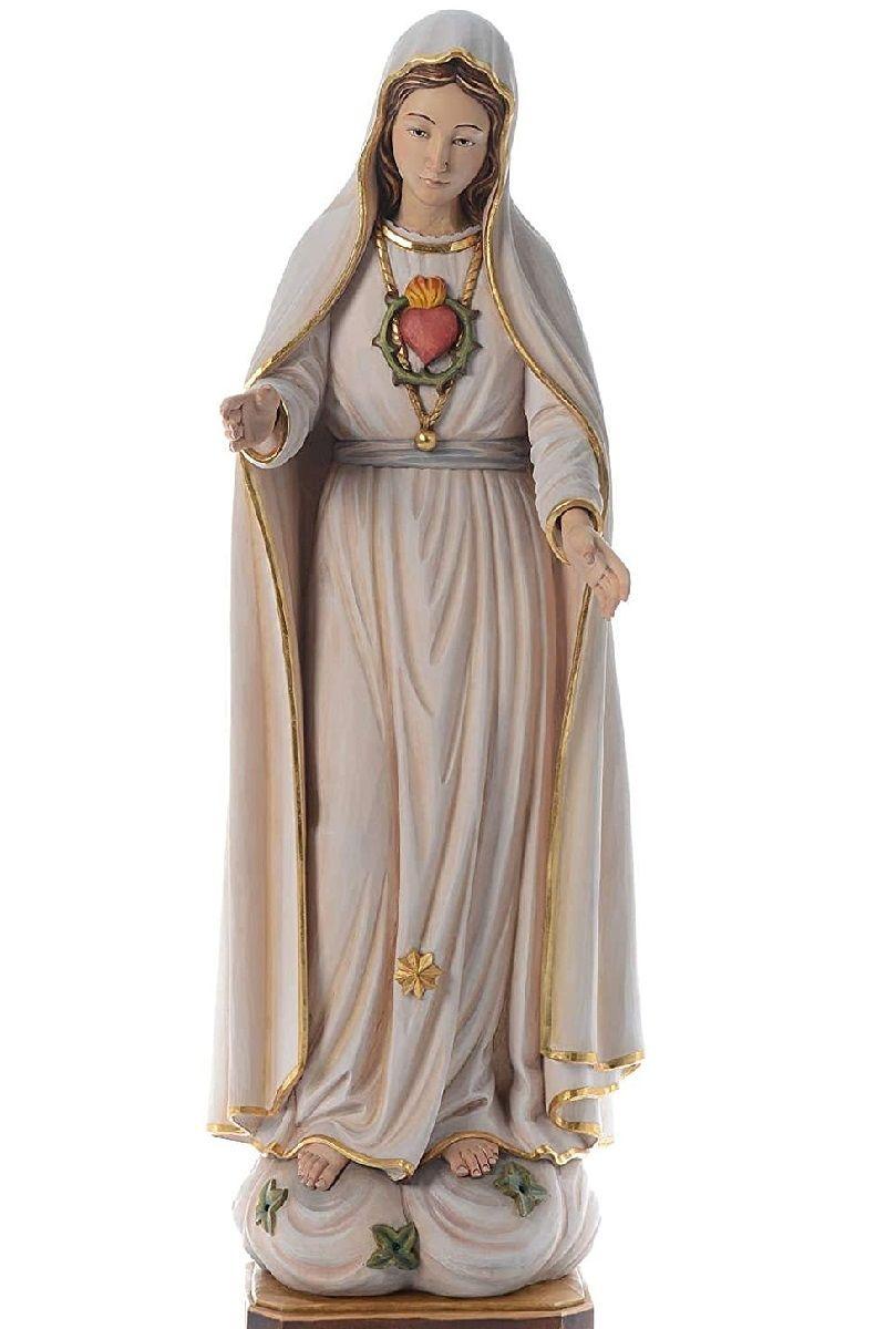 Estatua Virgen de Fátima tallada y pintada a mano